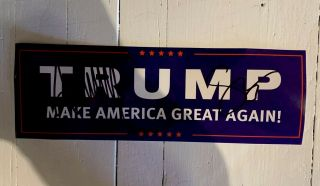 Donald Trump & Mike Pence Dual Signed Campaign Decal