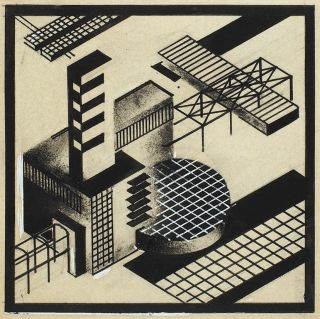 "Yakov Chernikhov.  Composition From The Cycle ""architectural Miniatures"".  1920s"