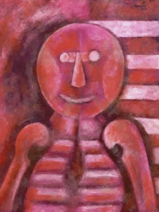 Outstanding Rufino Tamayo Oil On Paper Painting With Provenance.