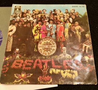 The Beatles 1968 With A Little Help From My Friend Ep W/ Laminated Sleeve Spain