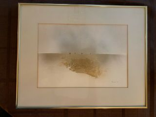 Peter Polites (20th/21st Century) Figures On The Horizon Signed And Dated