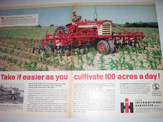 Vintage Farmall International Advertising - 560 Tractor & Cultivator