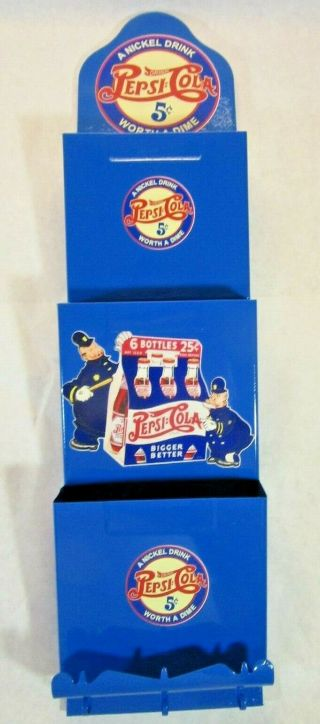 Custom Metal Letter Organizer With Vintage Pepsi Cola Emblems - One Of A Kind - Vgc