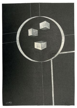 El Lissitzky (russian) Drawing Painting Avant - Garde Cubism Suprematism Bauhaus