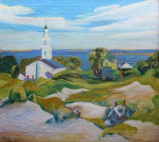 American Provincetown Modernist Frank Carson Signed Oil - Prices to $5,  000 2