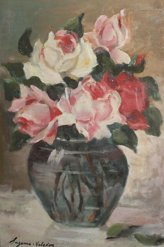 Antique French Impressionist Still Life Oil Painting Signed Suzanne Valadon