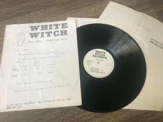 Kent Rocks Promo Nwobhm Compilation Lp Demon Pact White Witch Heavy Metal Rare
