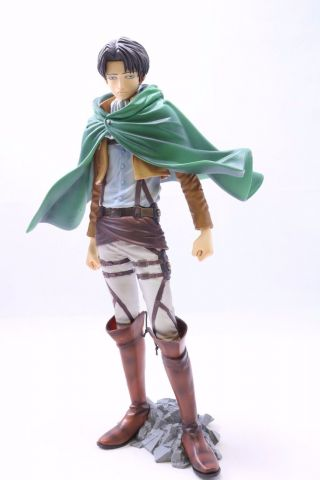 "Attack On Titan Levi Master Stars Piece Figure Authentic 10.  5 "" Bp Jp A2157"