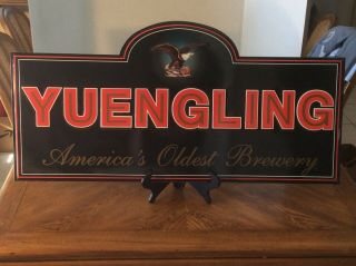 "Rare Nos 2001 Yuengling Embossed Promotional Metal Sign 35 1/4""x17 1/4"""