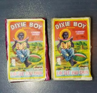 "2 Dixie Boy Firecracker Pack Flashlight Crackers 1 1/2 "" 16s Label Sheik Condom"