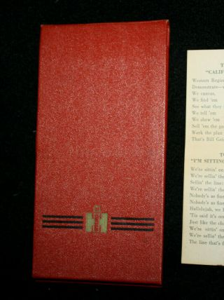 Rare Vintage International Harvester Co Chicago 1 Notebook Ih Sales Song Lyrics