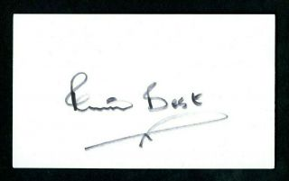 Pete Best The Beatles 1st Drummer Signed Autographed 3 X 5 Index Card - Nm