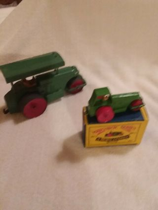 Vintage Moko Lesney Matchbox And Dinky Toys Aveling - Barford Tractors