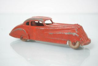 Vintage Die Cast Tootsietoy Red Slant Nose Coupe Toy Car