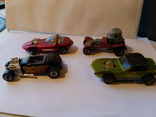4 Hot Wheels Mattel Redline Red Barron Python Silhouette Street Rodder
