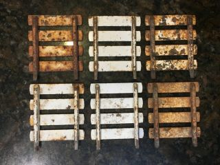 6 Old Rusty Metal Stock Racks For Tonka,  Ertl,  Nylent,  Etc.