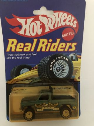 Vintage Hot Wheels Real Riders 1982 Bywayman Green