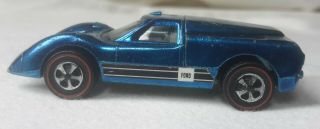 Vintage 1967 Hot Wheels Redline Ford J Car (cobalt Blue) Toy Car