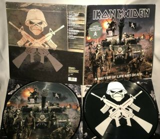 Lp Iron Maiden A Matter Of Life And Death (2lp Picture Vinyl,  Orig Uk 2006) Nm