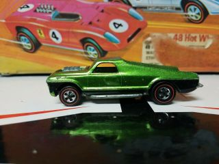 Vintage 1969 Mattel Redline Hot Wheel Seasider Green