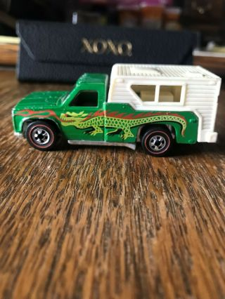 Hot Wheels Redline Vintage Backwoods Bombe (camper) With Dragon Rare