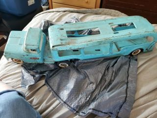 Vintage Buddy L Pressed Steel Car Carrier Toy Truck.  1960