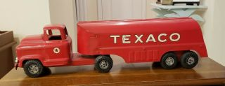 Antique Toy Buddy L Texaco Pressed Metal Toy Truck From 1950s