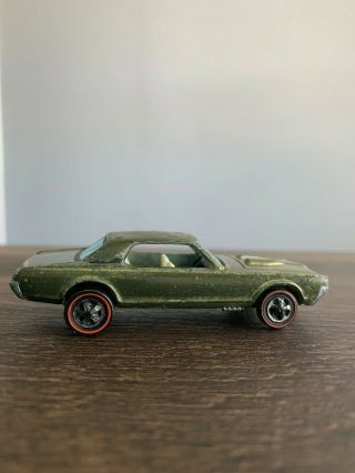 Vintage Hot Wheels Redline 1967 Custom Cougar Olive/ Matte Black Roof Hong Kong