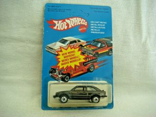 Hotwheels Rare Unpunched Blister France Only Enamel Gloss Black Ford Scort Nm