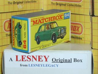 Matchbox Lesney 64b M.  G.  1100 Type F Empty Box Only