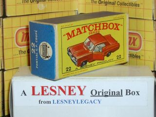 Matchbox Lesney 22c Pontiac Gran Prix Coupé Type E2 Empty Box Only