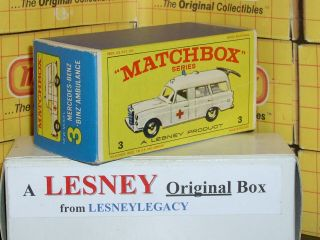 Matchbox Lesney 3c Mercedes Ambulance Type E4 Model Empty Box Only