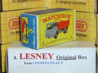 Matchbox Lesney 3b Bedford Tipper Truck Type E3 Empty Box Only