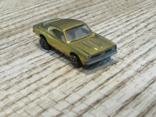Hot Wheels Redline 1967,  Custom Barracuda,  Usa,  Gold,  White Interior,  Hood Opens
