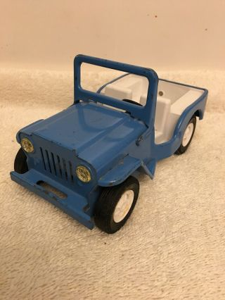 Vintage Tonka Die - Cast Metal Blue Jeep