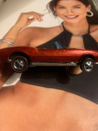Hot Wheels Red Line Custom Firebird 1:64 Diecast Car Red W Brown Interior Hong K