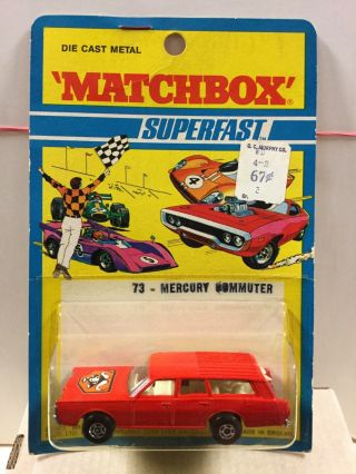 Lesney Matchbox Mb73 Mercury Commuter 1971 Blisterpack