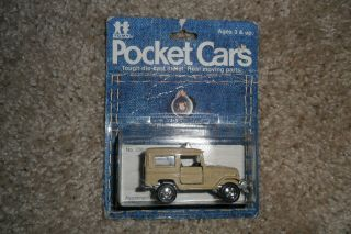 Rare Tomica Tomy Pocket Cars Toyota Land Cruiser Tan Made In Japan