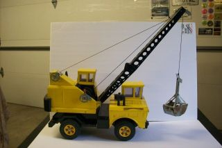 "Vintage Tonka Mighty Crane,  Played With,  17 3/4 "" Long 1970 - 1973"