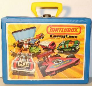 Dte 1976 Lesney Matchbox Superfast 48 Model Collectors Carry Case 4 Blue Trays