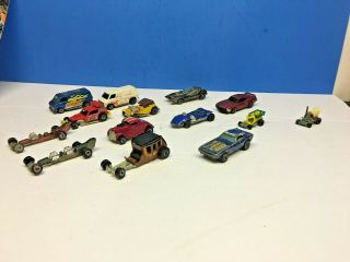 Vintage Hot Wheels Redline Show Off,  Zowees,  Sizzler,  Johnny Lightning 14 Cars