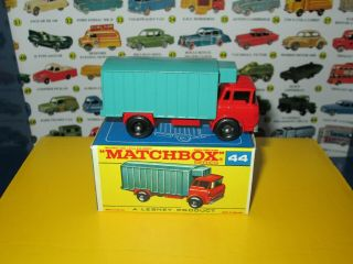 Matchbox Lesney 44 Gmc Refrigerator Truck Shiny Paint Minty W/original Box