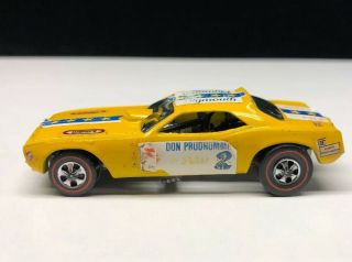 Hot Wheels Redline 1969 Don Prudhomme The Snake Coca - Cola Yellow Black Interior