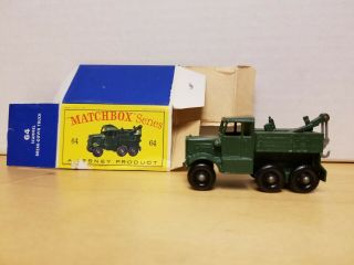 Matchbox Lesney Scammell Breakdown Truck No.  64 & Box