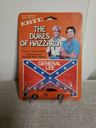 Ertl 1/64 Scale The Dukes Of Hazzard General Lee Car 1581 ©1981 Never Opened