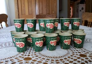 "25 Vintage Retro Dixie Cupco 4oz.  Bubble Up Cups.  Just Pure Pleasure 2 5/8 "" T"