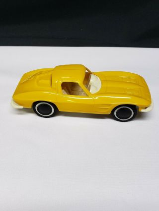 Vintage Tonka Yellow Plastic 1963 Corvette Split Window For Auto Transporter