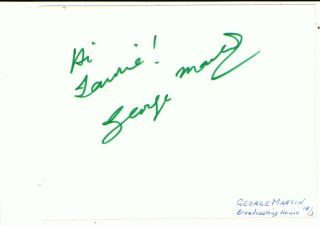 George Martin The Beatles Record Producer Signed Album Page