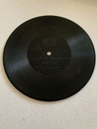 "7"" Berliner Gramophone Phonograph Record - Finale To The Belle Of York - Band"