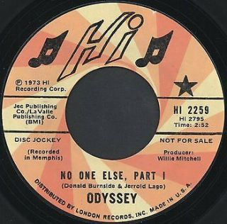 Odyssey: No One Else / Part 2 45 Hear (dj) Soul